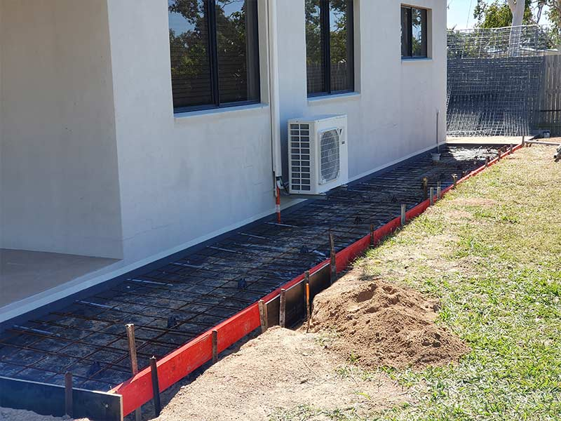 Concrete path to be poured near Townsville granny flat