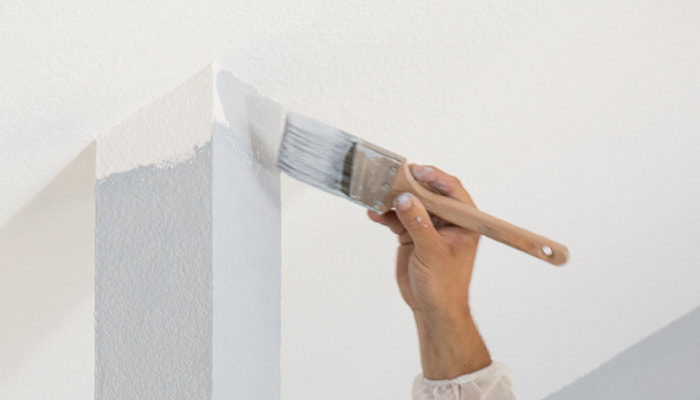 Painting a wall in Townsville
